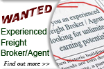 WANTED: Experienced Freight Broker/Agent